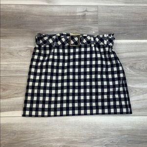 Vintage limited wool blend belted mini skirt 6